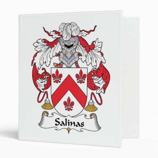 Salinas Family Crest Vinyl Binders