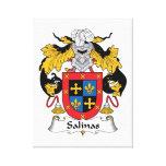 Salinas Family Crest Canvas Prints