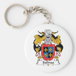 Salinas Family Crest Basic Round Button Keychain