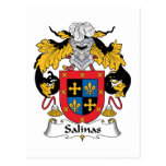 Salinas Family Crest Post Cards