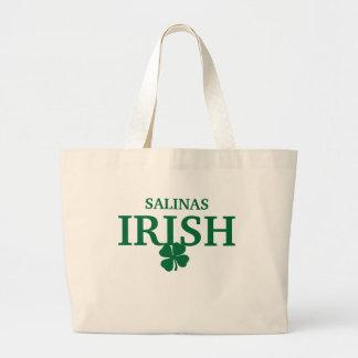 ¡SALINAS orgullosas IRLANDESAS! El día de St Patri Bolsa Lienzo