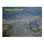 Salinas, postal de la opinión aérea de California