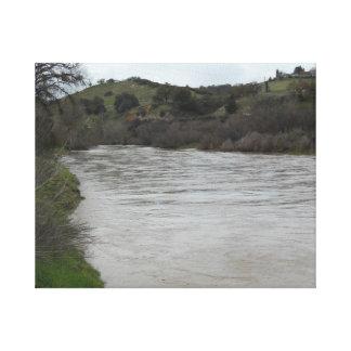 Salinas River Flowing through Paso Robles, CA Canvas Print