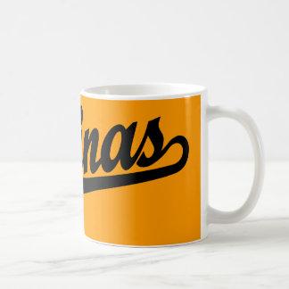 Salinas script logo in black mug