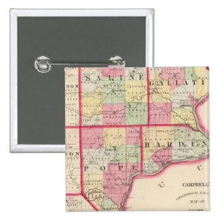 Saline, Gallatin, Hardin, Pope counties Pinback Button