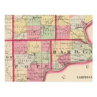 Saline, Gallatin, Hardin, Pope counties Postcard