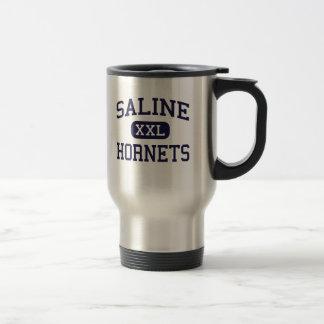 Saline - Hornets - High School - Saline Michigan 15 Oz Stainless Steel Travel Mug