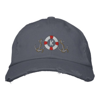 Saling Ring and Anchors Embroidered Hat