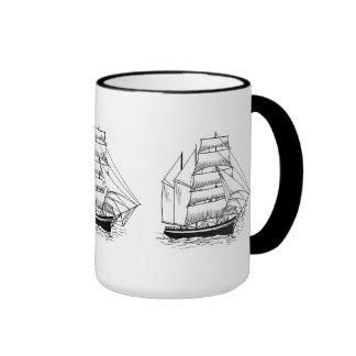 Saling Ship Ringer Mug