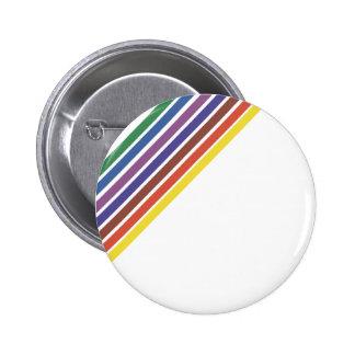 Salinger Stripe 2 Inch Round Button