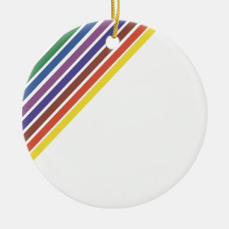 Salinger Stripe Double-Sided Ceramic Round Christmas Ornament