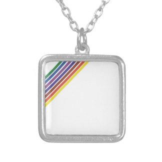 Salinger Stripe Square Pendant Necklace