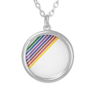 Salinger Stripe Round Pendant Necklace