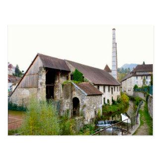 Salins les bain Industrial building Postcard