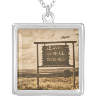 salir de Colorado colorido Colgante Cuadrado