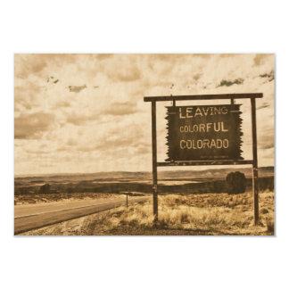 salir de Colorado colorido Anuncio Personalizado