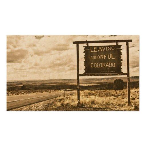 salir de Colorado colorido Plantilla De Tarjeta De Visita