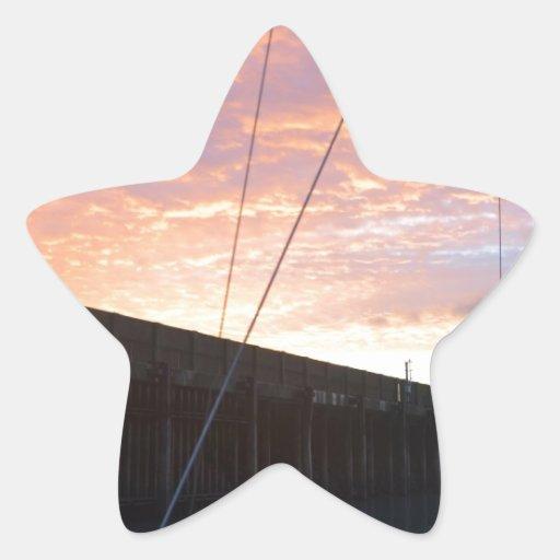 Salir de Dover en el amanecer Pegatina En Forma De Estrella