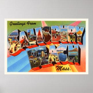 Salisbury Beach Massachusetts MA Travel Souvenir Poster