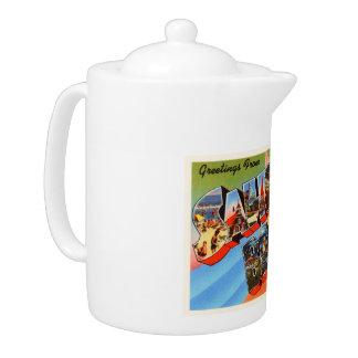Salisbury Beach Massachusetts MA Travel Souvenir Teapot