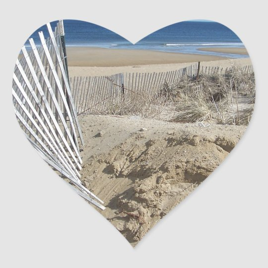 Salisbury Beach       Salisbury Massachusetts Heart Sticker