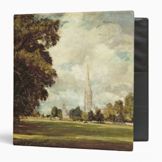 Salisbury Cathedral from Lower Marsh Close, 1820 Binder