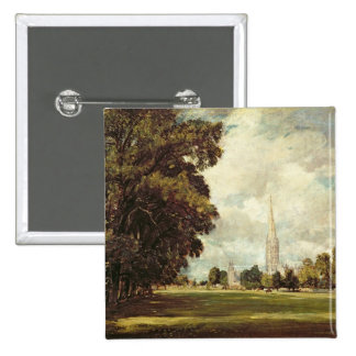 Salisbury Cathedral from Lower Marsh Close, 1820 Button