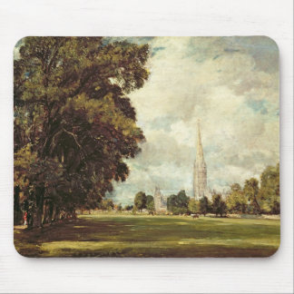 Salisbury Cathedral from Lower Marsh Close, 1820 Mouse Pad