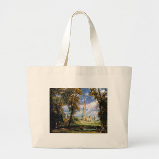 Salisbury Cathedral from the Bishop's Grounds Canvas Bags