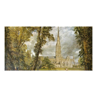Salisbury Cathedral From The Garden Of The Bishop Photo Greeting Card