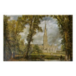 Salisbury Cathedral From The Garden Of The Bishop Poster