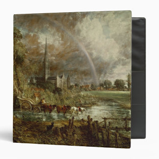 Salisbury Cathedral From the Meadows, 1831 3 Ring Binder