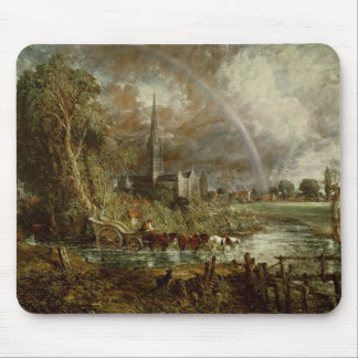 Salisbury Cathedral From the Meadows, 1831 Mouse Pad