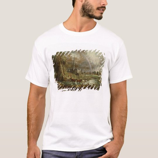 Salisbury Cathedral From the Meadows, 1831 T-Shirt