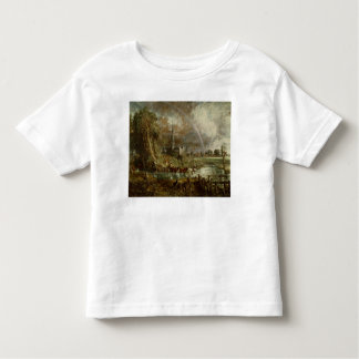 Salisbury Cathedral From the Meadows, 1831 T Shirts