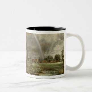 Salisbury Cathedral From the Meadows, 1831 Two-Tone Coffee Mug