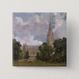 Salisbury Cathedral from the south west Pinback Button