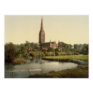 Salisbury Cathedral I, Wiltshire, England Poster