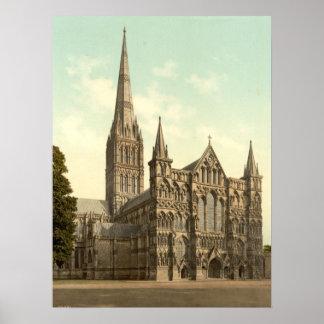 Salisbury Cathedral II, Wiltshire, England Poster
