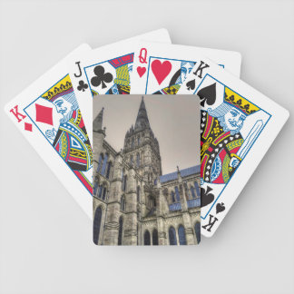 Salisbury Cathedral & Spire Wiltshire England Bicycle Playing Cards