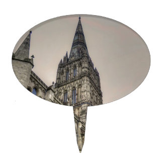 Salisbury Cathedral & Spire Wiltshire England Cake Topper
