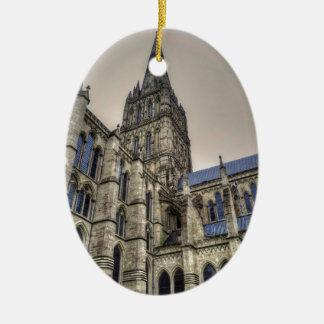 Salisbury Cathedral & Spire Wiltshire England Ceramic Ornament