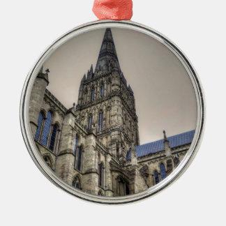 Salisbury Cathedral & Spire Wiltshire England Metal Ornament