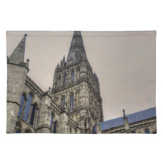 Salisbury Cathedral & Spire Wiltshire England Placemat