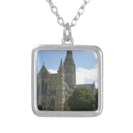 Salisbury Cathedral Square Pendant Necklace
