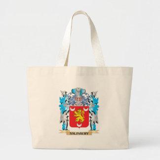 Salisbury Coat of Arms - Family Crest Jumbo Tote Bag