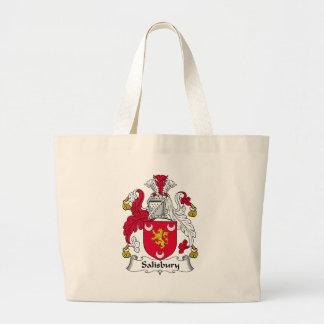 Salisbury Family Crest Jumbo Tote Bag