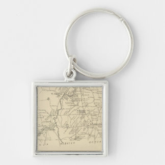 Salisbury, Merrimack Co Silver-Colored Square Keychain