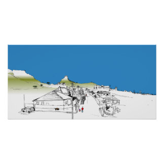 Salisbury Rd, Woodstock, Cape Town. Blue Sky Poster