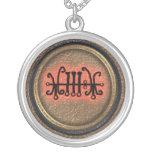 sallos round pendant necklace